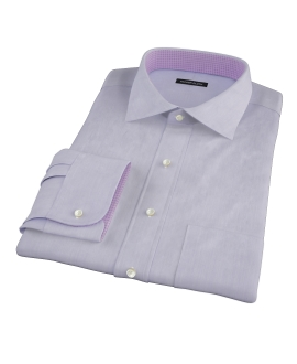 Albini Purple Superfine Stripe Custom Made Shirt 