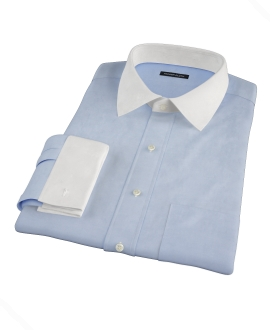 Blue Royal Twill Fitted Dress Shirt