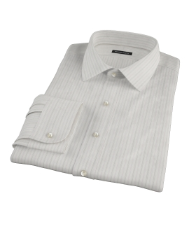Lavender Gray Dobby Stripe Tailor Made Shirt 