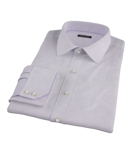 Lavender Wrinkle Resistant Mini Herringbone Custom Dress Shirt