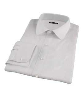 140s Lavender Wrinkle Resistant Stripe Custom Dress Shirt 