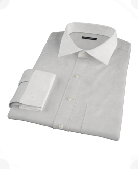Light Gray End-on-End Fitted Shirt 