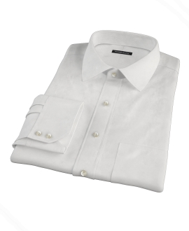 Albini White Broadcloth Tailor Made Shirt