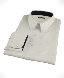 Ecru Pinpoint Dress Shirt