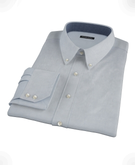 Stormy Light Blue Pinpoint Custom Dress Shirt