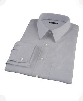 Blue End-on-End Custom Dress Shirt 