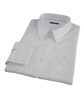 Coffee &amp; Blue Check Men's Dress Shirt 