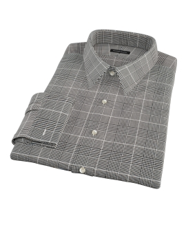 Heavy Black Houndstooth Custom Dress Shirt