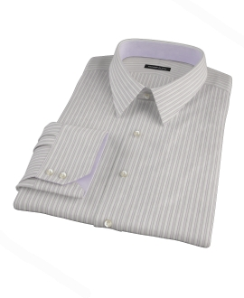 Japanese Lavender and Gray Stripe Men's Dress Shirt 