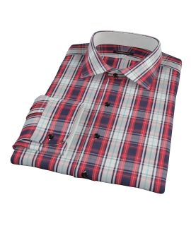 Large Red and Blue Plaid Dress Shirt