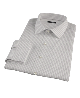 Japanese Lavender and Gray Stripe Custom Dress Shirt