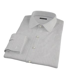 Tan and Blue Multi Stripe Custom Made Shirt
