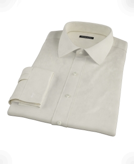 Ecru Pinpoint Men's Dress Shirt 