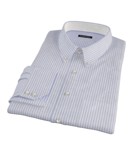 Blue University Stripe Heavy Oxford Custom Dress Shirt 