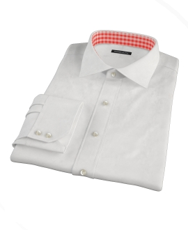 White Pinpoint Men's Dress Shirt