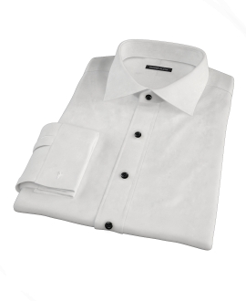 White Pinpoint Tailor Made Shirt 