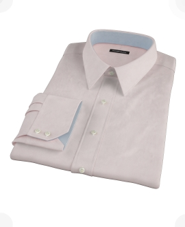 Pink Cavalry Twill Herringbone Men's Dress Shirt