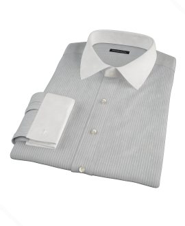 Charcoal End-on-End Stripe Custom Made Shirt