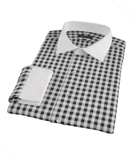 Black Large Gingham Custom Made Shirt