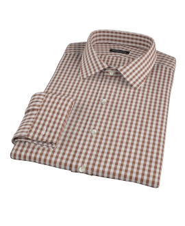 Clove Brown Gingham Custom Made Shirt