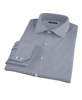 100s Navy Mini Gingham Custom Made Shirt