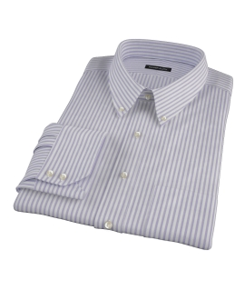 Thomas Mason Purple Stripe Oxford Tailor Made Shirt 