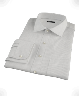 Japanese Gray Mini Grid Custom Dress Shirt