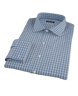 Canvas Blue Oxford Plaid Custom Dress Shirt