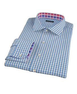 Canvas Blue Gingham Dress Shirt 