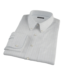 Light Blue Gray Dobby Stripe Fitted Shirt 