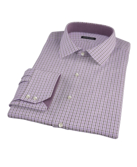Lavender and Brown Mini Gingham Custom Made Shirt