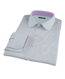 Blue Broadcloth Custom Dress Shirt 