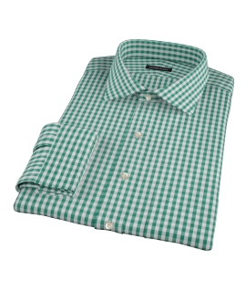 Veridian Green Gingham Fitted Shirt 