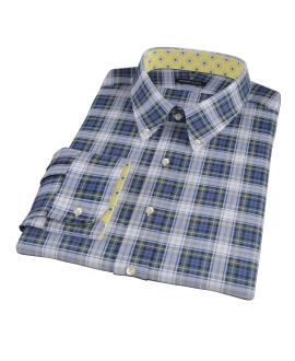 Blue Green Tartan Custom Made Shirt
