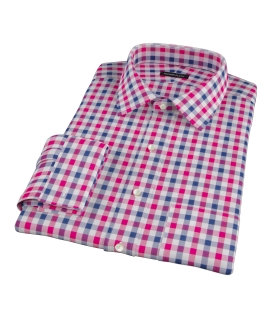 Red and Navy Multi Gingham Tailor Made Shirt
