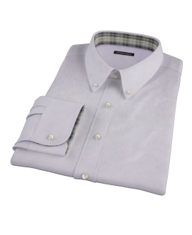 Lavender Wrinkle Resistant Mini Herringbone Fitted Shirt 
