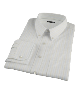 Blue and Yellow Stripe Tailor Made Shirt