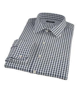 Dark Navy Gingham Dress Shirt
