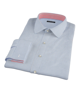 Light Blue Grid Custom Made Shirt