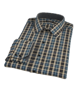 Whistler Green Plaid Custom Dress Shirt
