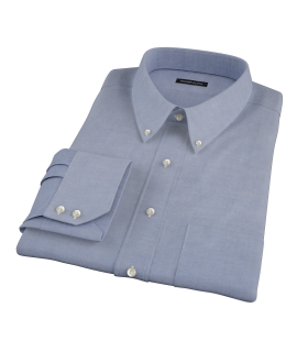 Blue 100s Oxford Custom Dress Shirt