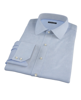 Bowery Blue Wrinkle-Resistant Pinpoint Custom Made Shirt