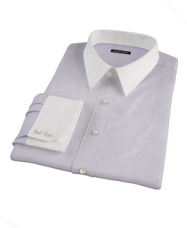 Lavender Wrinkle Resistant Mini Herringbone Men's Dress Shirt