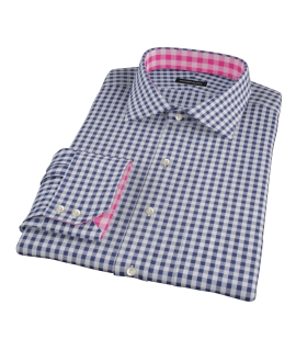 Navy Gingham Tailor Made Shirt