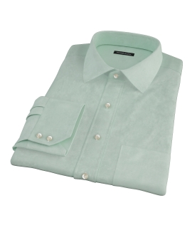 Light Green Heavy Oxford Cloth Men's Dress Shirt