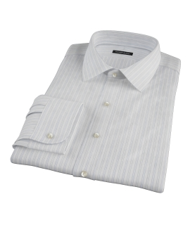 Blue and Green Stripe Tailor Made Shirt