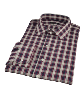 Mulberry Gold Plaid Custom Dress Shirt 