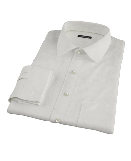 White Phantom Wide Stripe Tailor Made Shirt