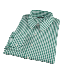Veridian Green Gingham Tailor Made Shirt