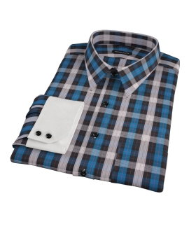 Aspen Blue Plaid Dress Shirt